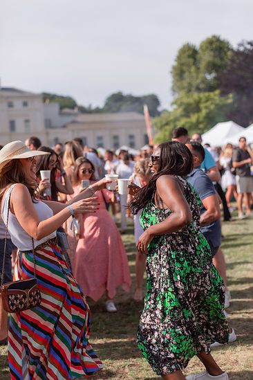 Women dancing in crowds at Soho House Festival