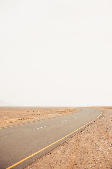 Road highway in the Namiba desert on roadtrip in Namibia South Africa