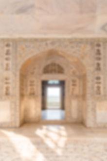 Shahi Burj pavillion in Red Fort in Agra India