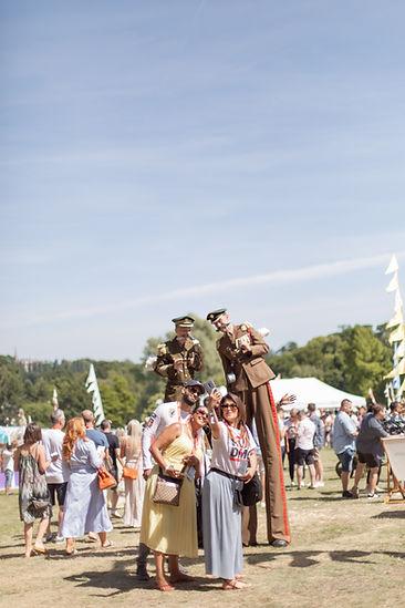 Men on stilts at Soho House Festival