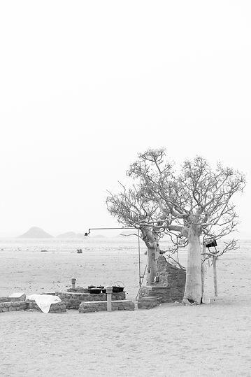 Traditonal camfire in Namib desert