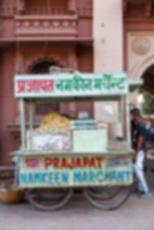 Green street food stall in Jodhpur India