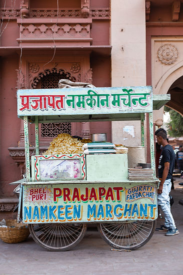 Green street food stall in Jodhpur India