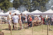 People Soho House Festival at food stalls at Soho House Festival