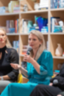 Women in business panel discussion at The Wing London event