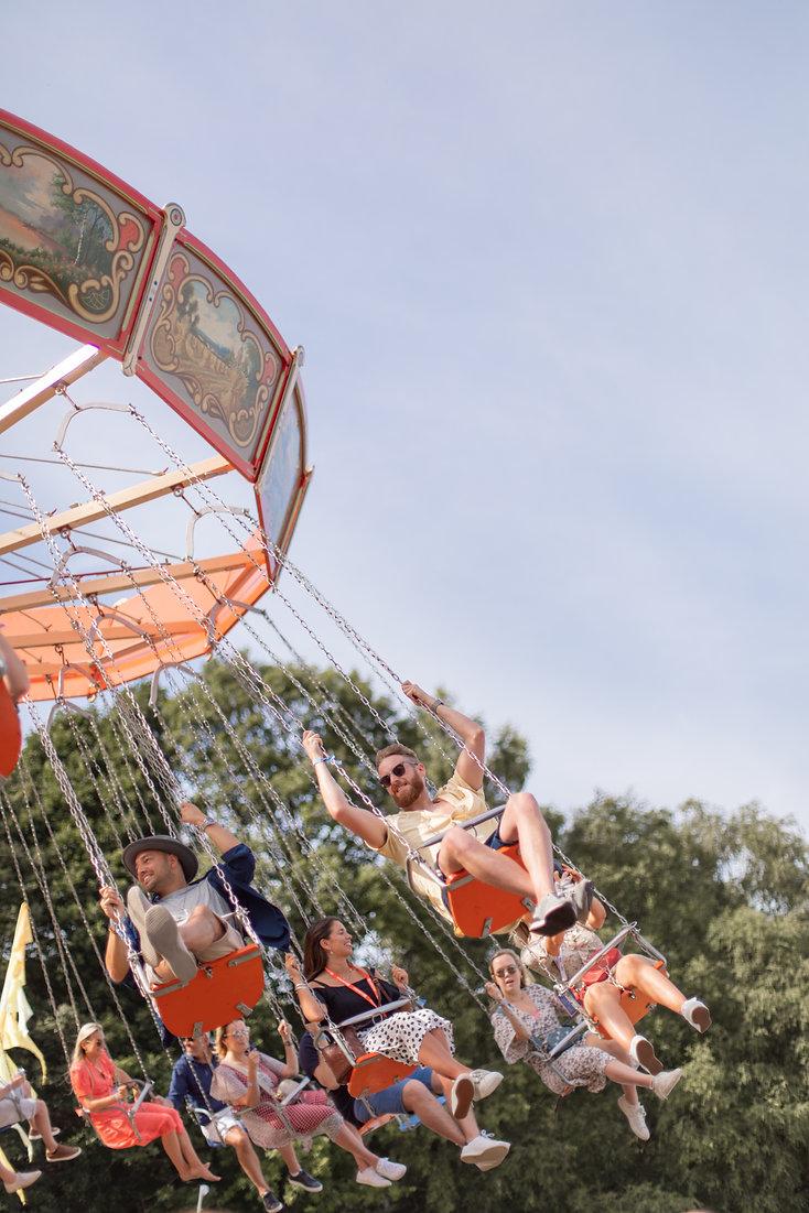 Fairground rides at Soho House Festival