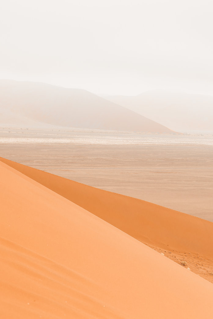 Landscape of sossusvlei red sand dunes in Namibia South Africa