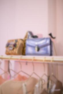 Designer purple handbag at Hurr pop-up