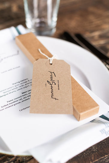 Table placesetting details Food Summit event at Soho Farmhouse
