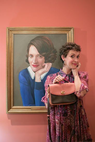 Marianna Martinelli with Phoebe Waller-Bridge at The Wing London launch party