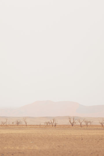 Namib desert with mountain skyline in Namibia South Africa