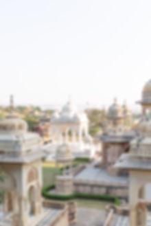 Cream and white temples in Jaipur India