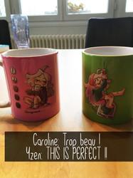 Mugs Flanny thé brocoli et chargement café