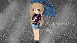 Flanny in rain