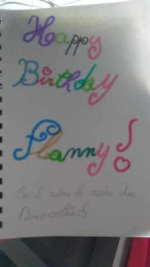 Joyeux anniversaire Flanny