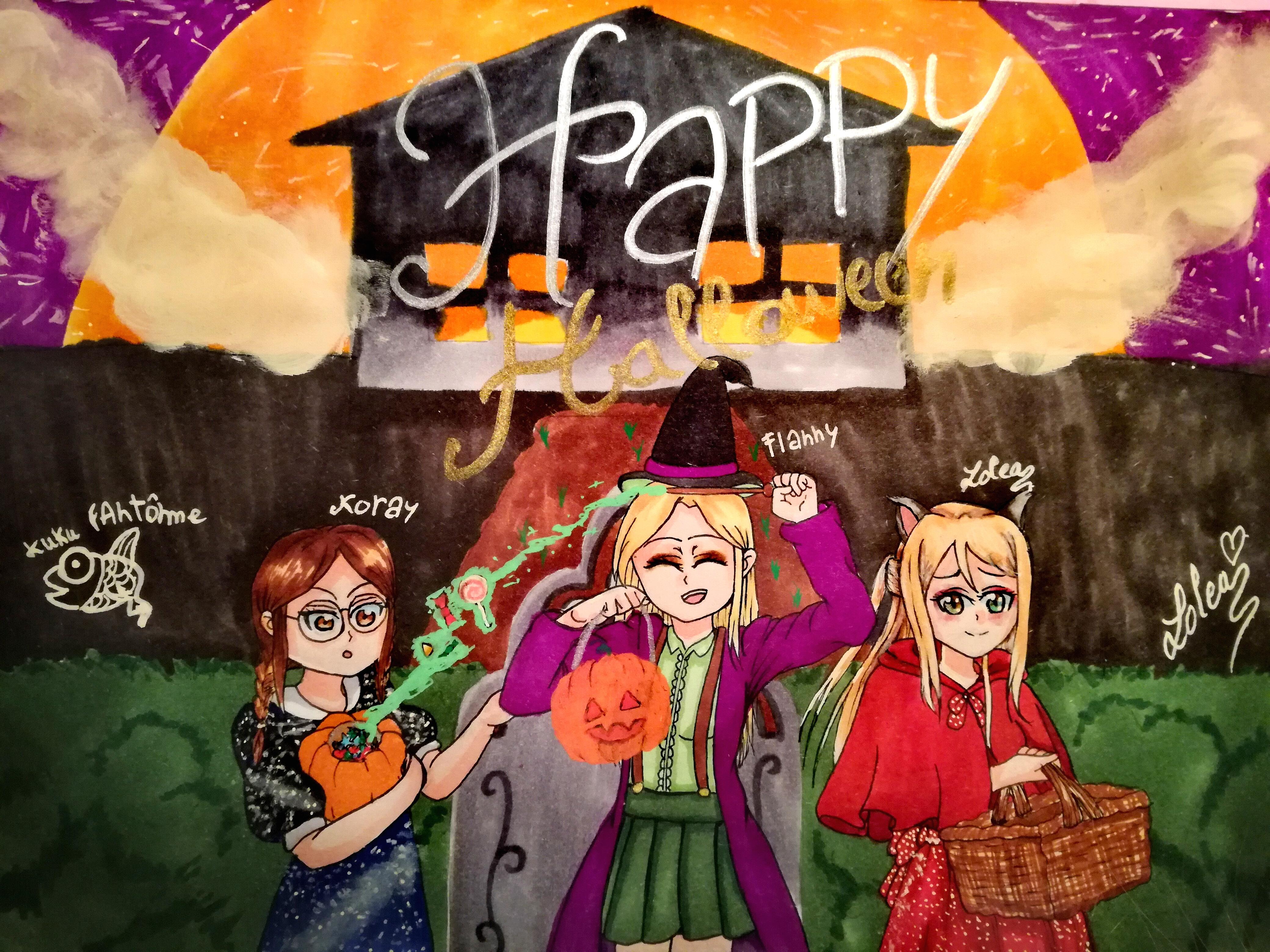 Fan art Flanny halloween