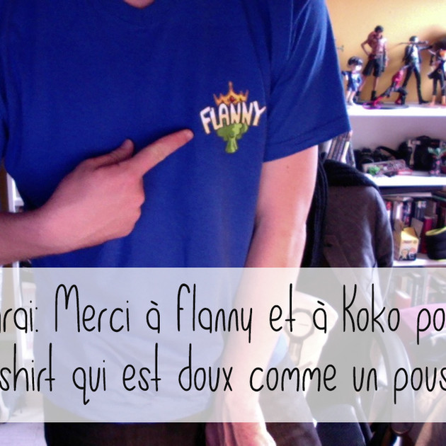 Flanny Reine brocoli - T-shirt col V bleu royal