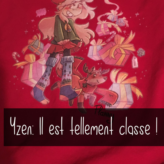 Tshirt flanny noel et renard rouge