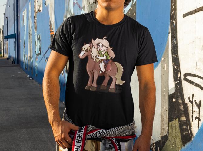Flannou et son cheval