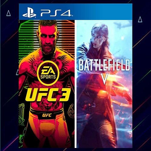 UFC 3 y BATTLEFIELD V - Midia Digital (PS4)