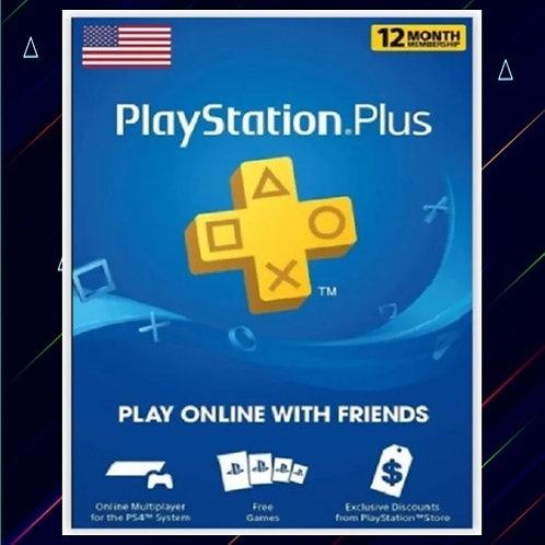 Tarjeta PSN Plus 12 Meses - EUA