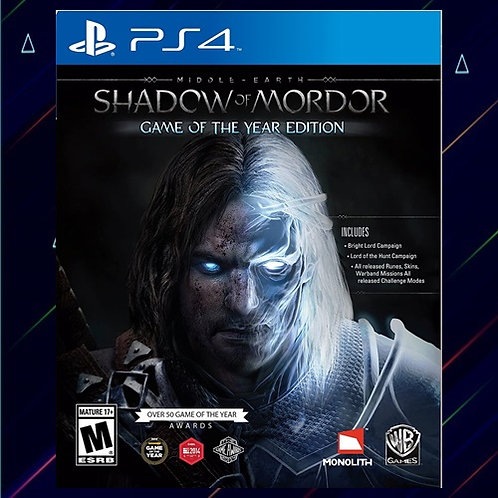 Middle Earth Shadow Of Mordor - Midia Digital (PS4)