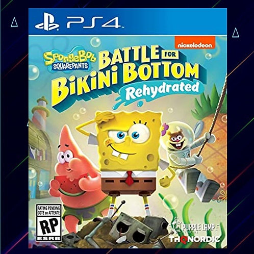 SpongeBob SquarePants Battle for Bikini Bottom Rehydrated - Midia Digital (PS4)