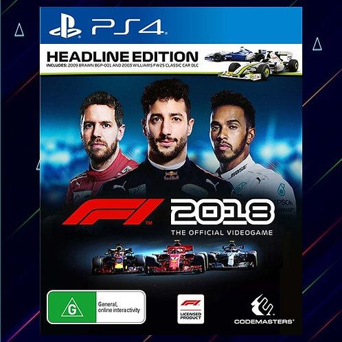F1 2018 Headline Edition - Midia Digital (PS4)