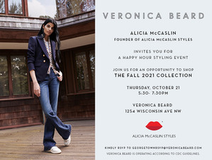 Veronica Beard Evening with Alicia! Join me this Thursday in Georgetown!