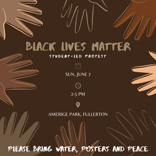 Client-based graphic for BLM protest