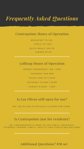 FAQ's for Cal Poly Pomona Dining