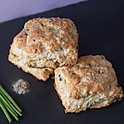 Black Pepper and Chive Biscuit