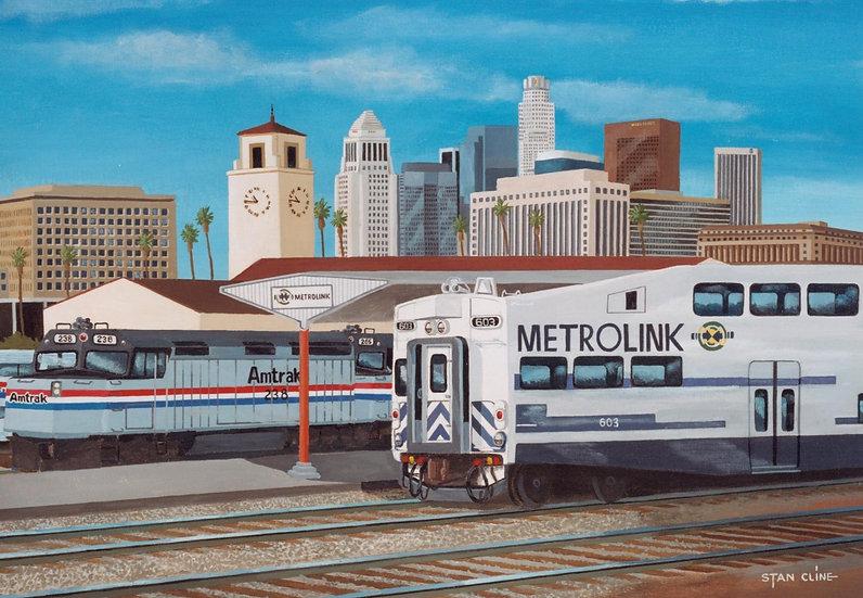 Union Station, Los Angeles, Amtrak/Metrolink 1992