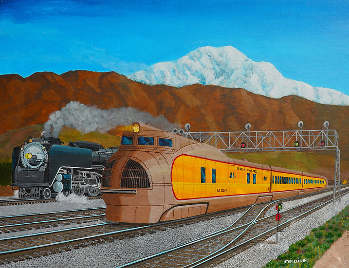 Union Pacific M1000 Streamliner & UP Challenger Steam (1939)