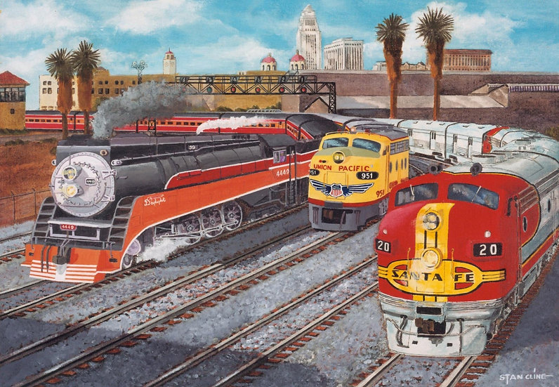 Union Station, Los Angeles, SP, UP & SF (1950)