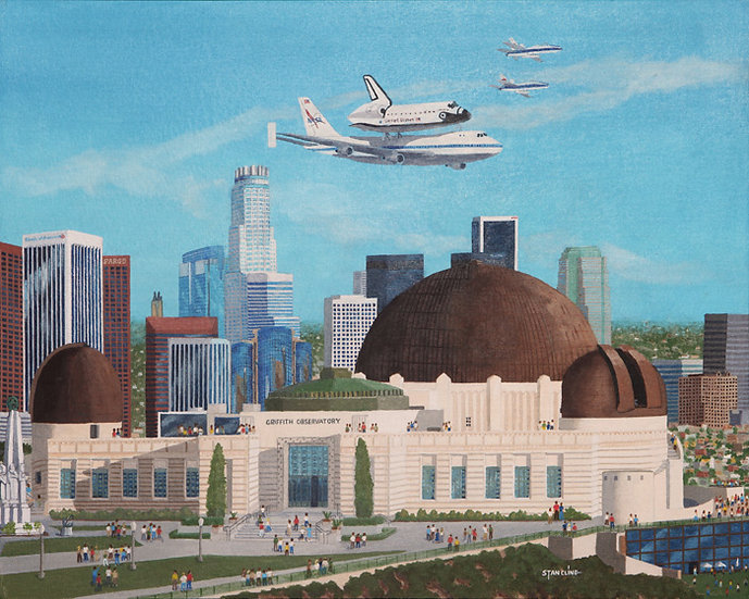 Griffith Park Observatory & Space Shuttle (9/2012)
