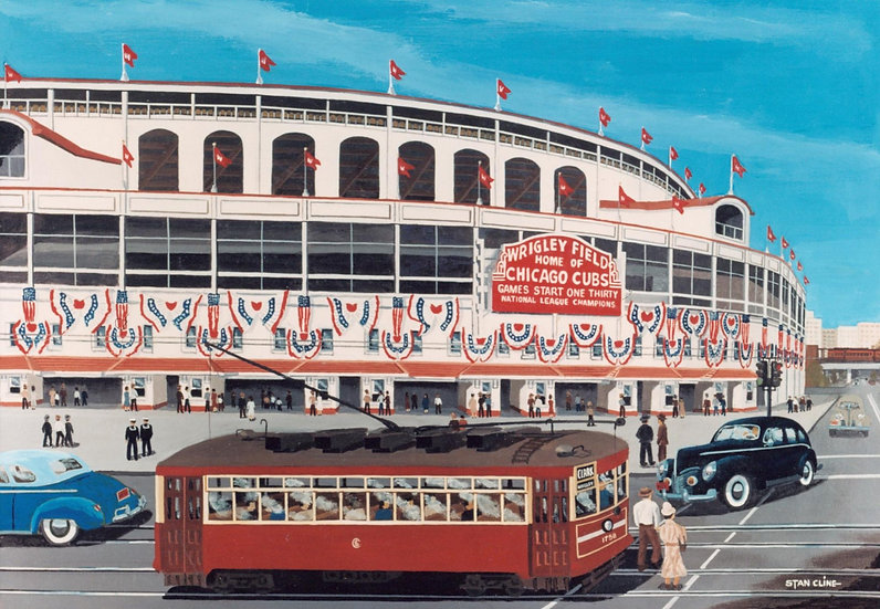 Wrigley Field (Chicago Cubs) (1945)
