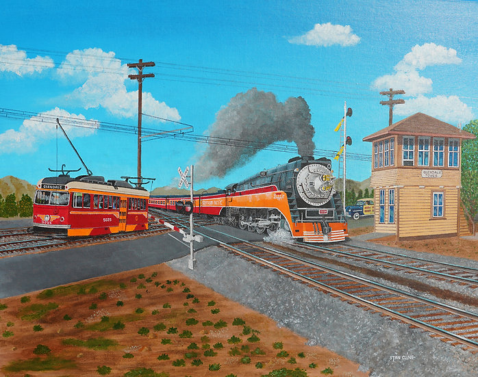 SP Daylight Steam & Pacific Electric Trolley (1949)