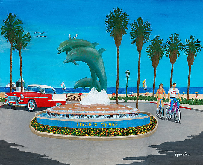 3 Dolphins Fountain, Santa Barbara (1982)