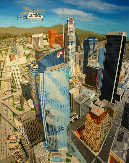 Aerial View of Downtown Los Angeles (2018)