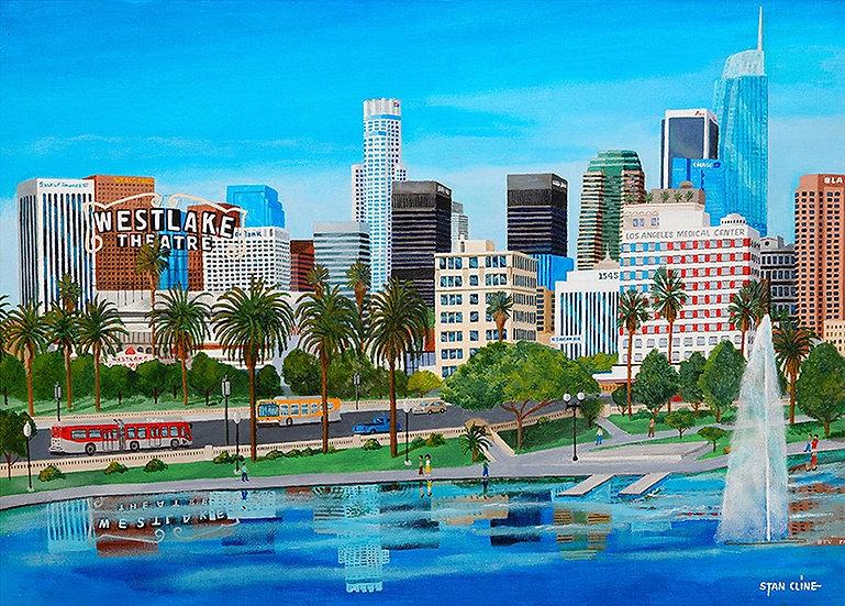 Los Angeles Skyline from Westlake Park (2017)