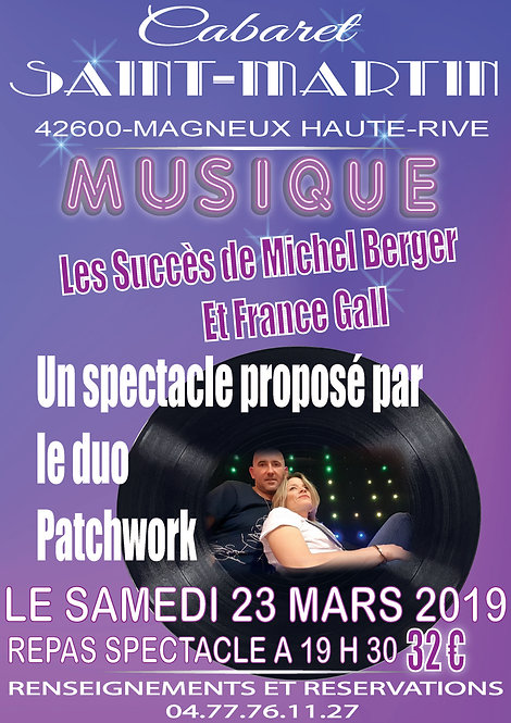 repas spectacle hommage michelBerger et france Gall