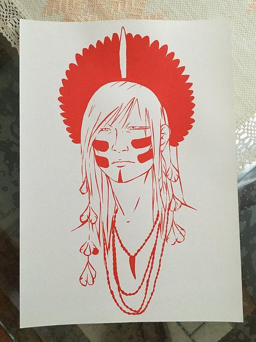 Gravura Anhangá - Serigrafia