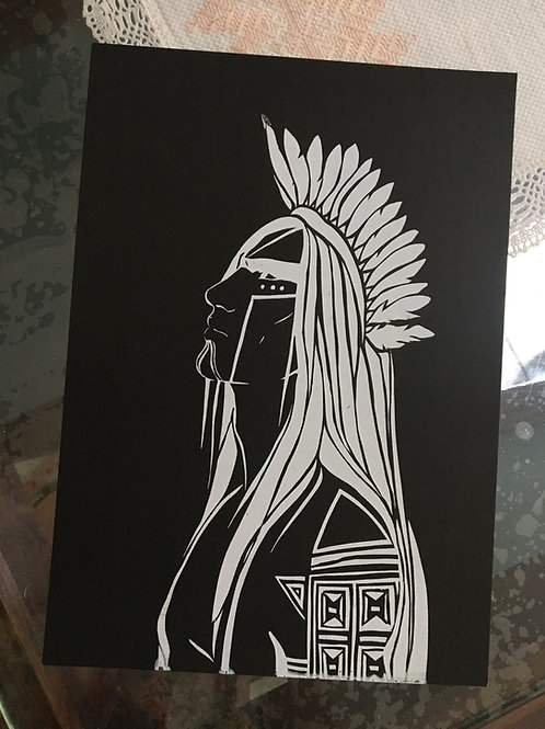 Gravura Tupã - Serigrafia