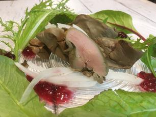 【新メニュー】真空調理した鶏レバーの燻製