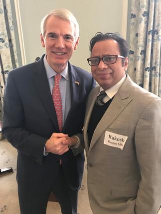 Dr. Ranjan Meets Senator Rob Portman