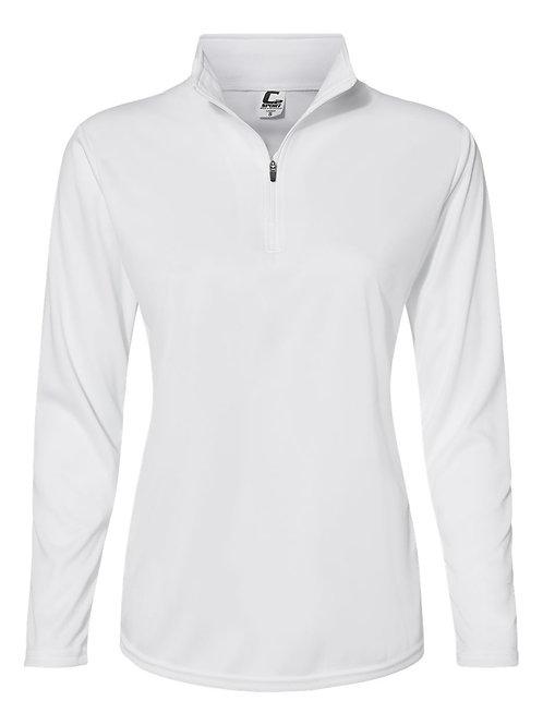 Womens 1/4 zip long sleeve light weight riding shirt