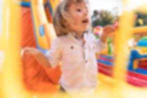 Kid having fun on bounce house rental from Kidpackz