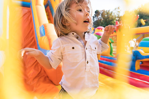 Kid having fun on bounce house rental from Kidpackz