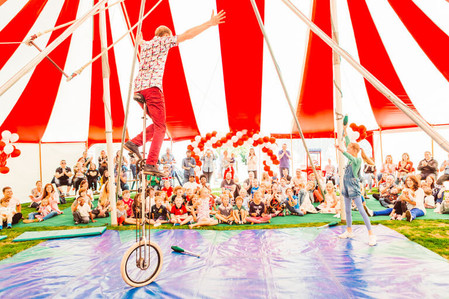 A huge big top party for some super special clients